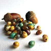 Czech Glass Tear Drop Beads, Picasso Mix, 7 mm, 40 pcs.