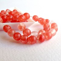 Czech Glass Round Beads, Winter Berry Mix, 6 mm, 80 pcs.