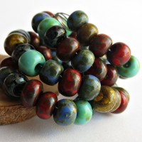 Picasso Mix of Preciosa Seed Beads 'Tribal' - 3/0, 20 gr