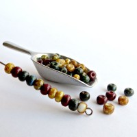 Picasso Mix of Preciosa Seed Beads 'Nature' - 6/0, 20 gr