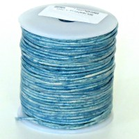 1.5mm Vintage blue distressed natural round leather cord, 5 m