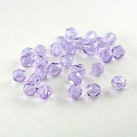Czech fire polished violet beads, 6 mm, 40 pcs.
