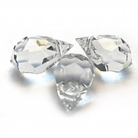 Czech Tear Drop Crystal Clear Beads, 6*10 mm, 10 pcs.