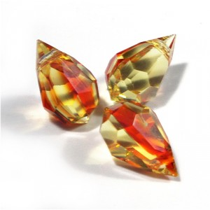 Czech Tear Drop FIRE OPAL Beads, 6*10 mm, 10 pcs.