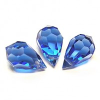 Czech Tear Drop Crystal Light Blue Beads, 6*10 mm, 10 pcs.