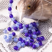 Czech Glass Round Beads, Mix of blue shades, 4mm, 60 pcs.