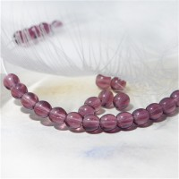 Czech Glass Round Amethyst Beads, 4mm, 120 pcs.