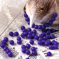 Czech Glass Round Opaque Dark Blue Beads, 4mm, 120 pcs.