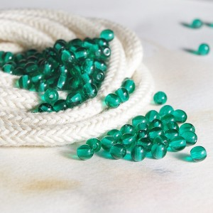 Small round green beads, 4mm, 120 pcs.