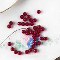 Czech Glass Round Opaque Vinous Red Beads, 6 mm, 80 pcs.