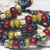 311 Mix of Picasso Preciosa Seed Beads 'Terra' - 3/0, 20 gr