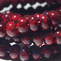 311 Preciosa Czech Seed Beads Picasso Red - 3/0, 20 gr