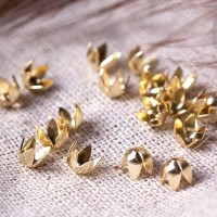 Bead caps, gold colored, 5х5 mm, 10 pcs