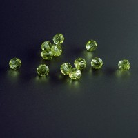Machine Cut Crystal PRECIOSA Beads - JONQUIL, 4 mm
