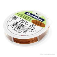 COPPER SATIN BEADALON Bead Stringing Wire, 7 Strand, 0.45 mm, 9.2 m