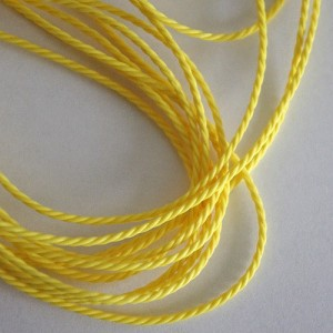 Yellow Cotton Cord, 2 mm, 5 m