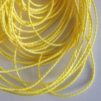 Light Yellow Cotton Cord, 1 mm, 5 m