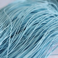 Light Blue Cotton Cord, 1 mm, 5 m