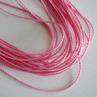 Light Rose Cotton Cord, 1 mm, 5 m