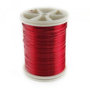 Red Jewerly Wire, 0.6 mm, 15 m