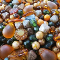 Mix of Brown Czech Beads